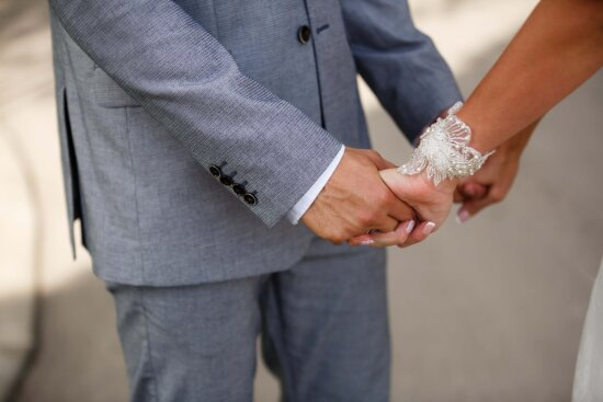 man, woman, hands, holding hands, Valentine's day, arm, relationship, suit, clothing, partnership