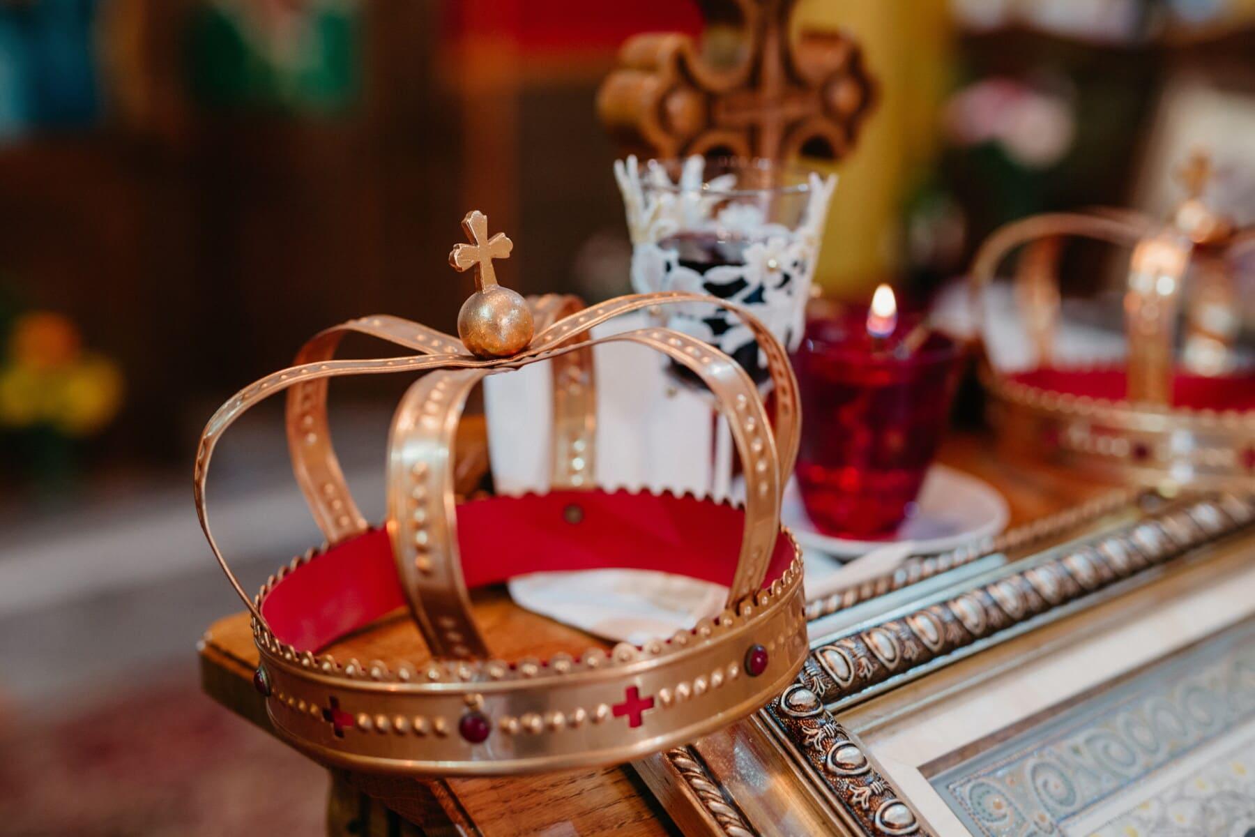 couronnement, Couronne, religieux, église, brillante, traditionnel, décoration, à l'intérieur, Hiver, luxe