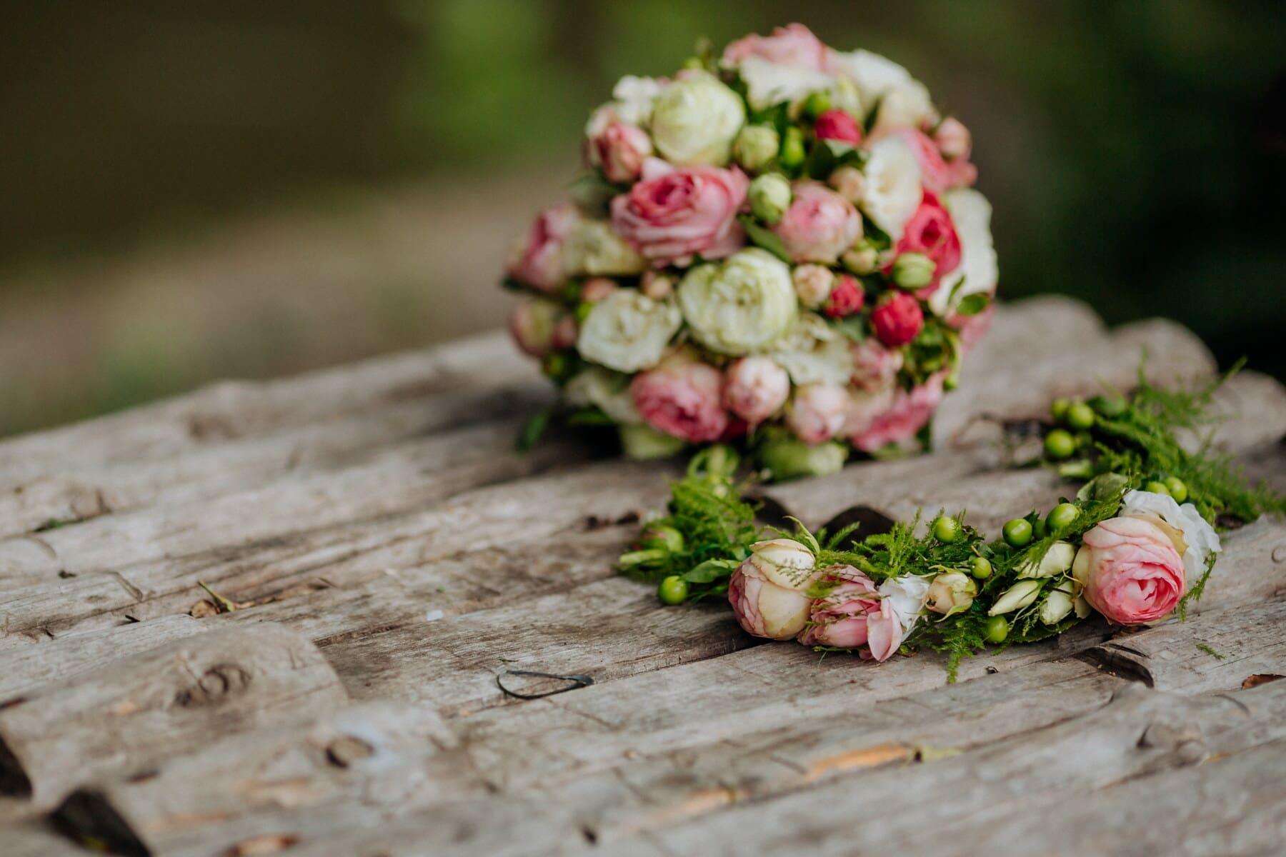 bouquet, décoration, fleur, nature, Rose, feuille, été, nature morte, romance, engagement
