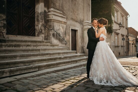old, town, groom, bride, wedding, dress, woman, married, marriage, couple