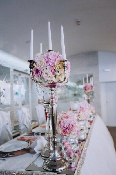 candlestick, candles, glamour, wedding venue, elegance, fancy, expensive, candle, wedding, celebration