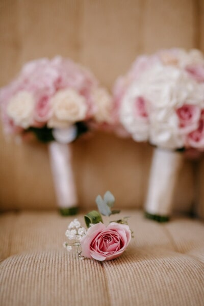 miniature, bouquet, detail, sofa, flower, pink, romance, rose, nature, indoors