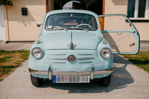 old style, Fiat 750, nostalgia, old fashioned, old, car, classic, automotive, automobile, wheel, vehicle