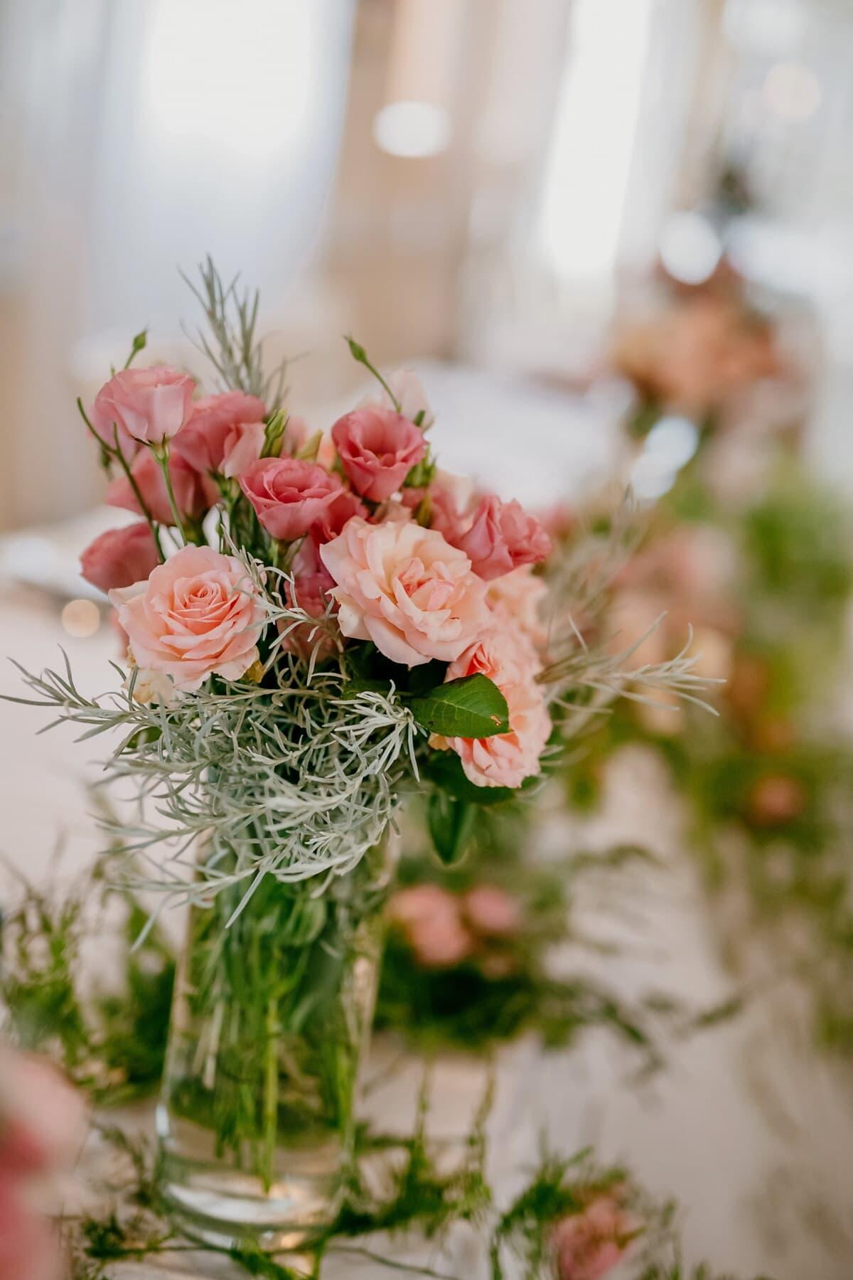 Nelke, Rosen, Rosa, Vase, Blumenstrauß, Rosa, Dekoration, Anordnung, Blume, Blumen