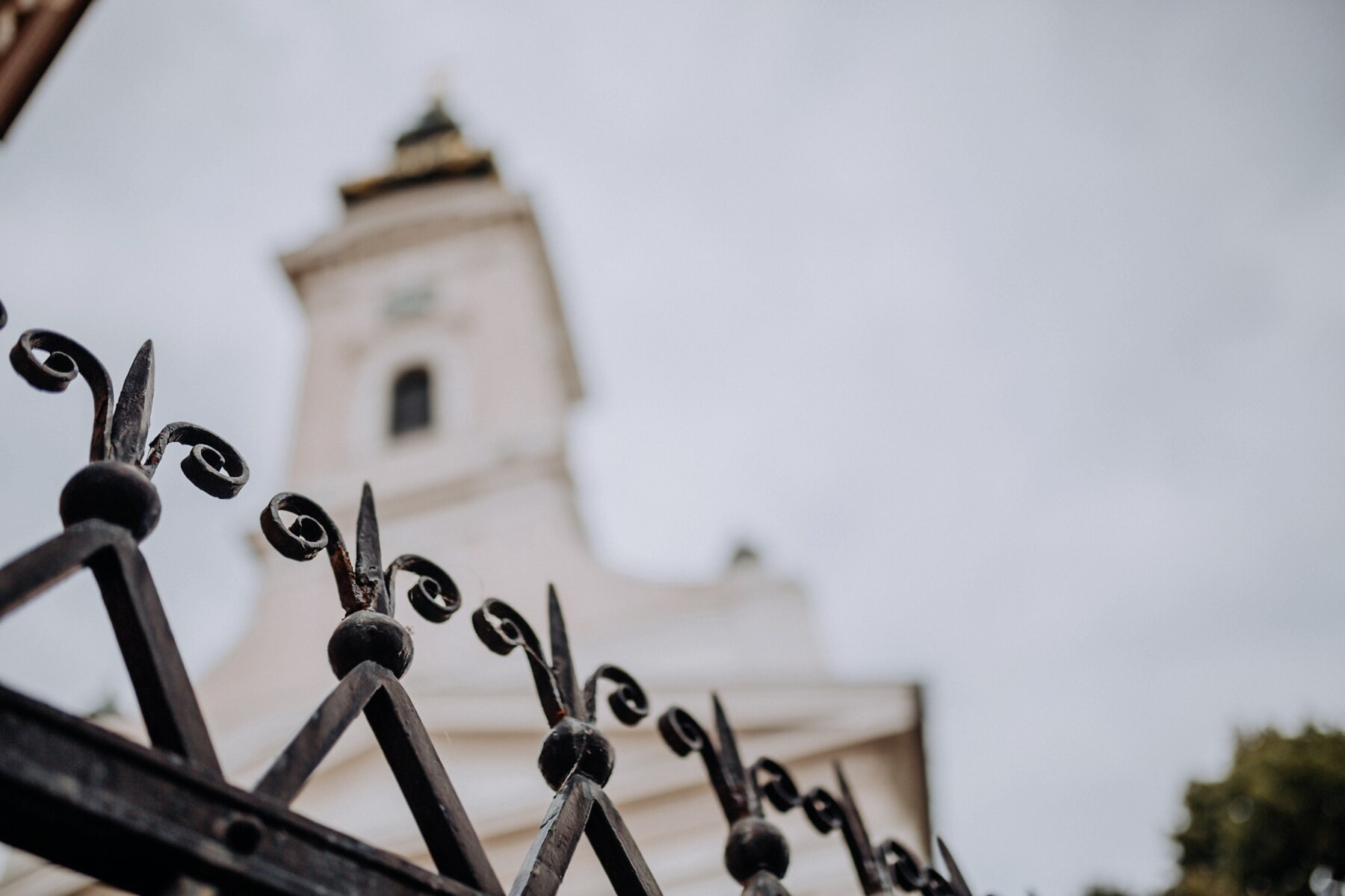 fence, iron, handmade, cast iron, church tower, church, architecture, old, cathedral, traditional