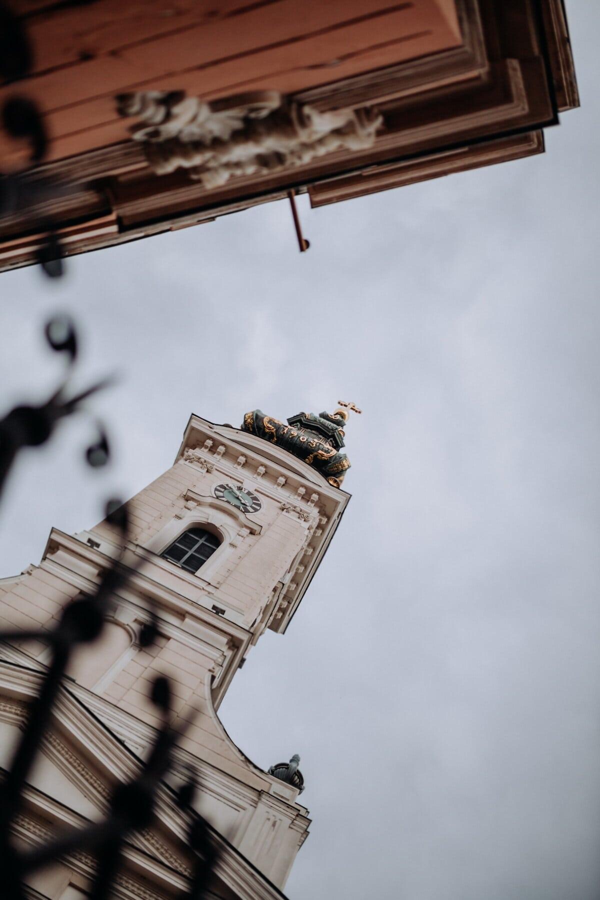 metal, ograda, željezo, lijevano željezo, crkveni toranj, crkva, fasada, arhitektura, ulica, grad