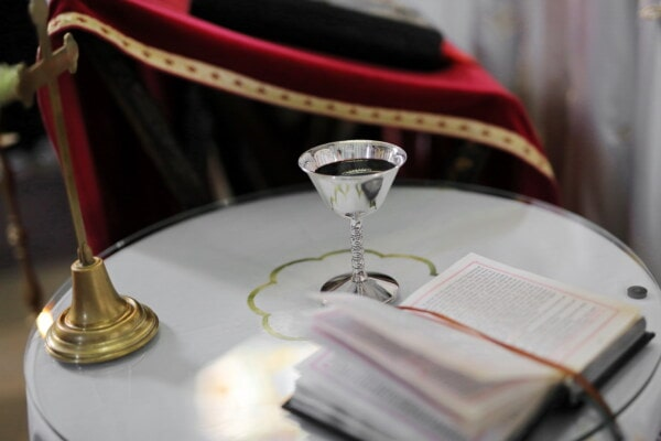 bible, book, holly, red wine, ceremony, cross, indoors, drink, alcohol, wine