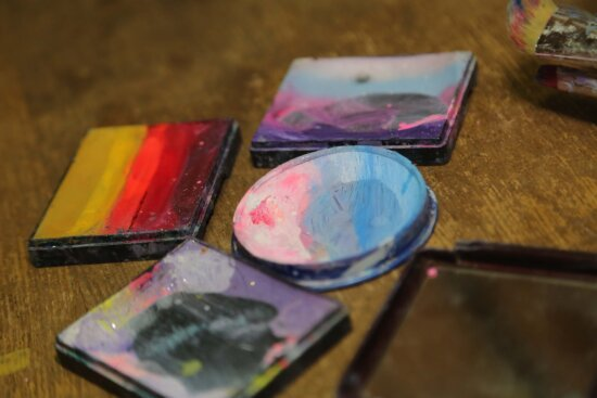 cosmetics, cosmetic, colorful, colors, color, paintbrush, palette, painting, creativity, art