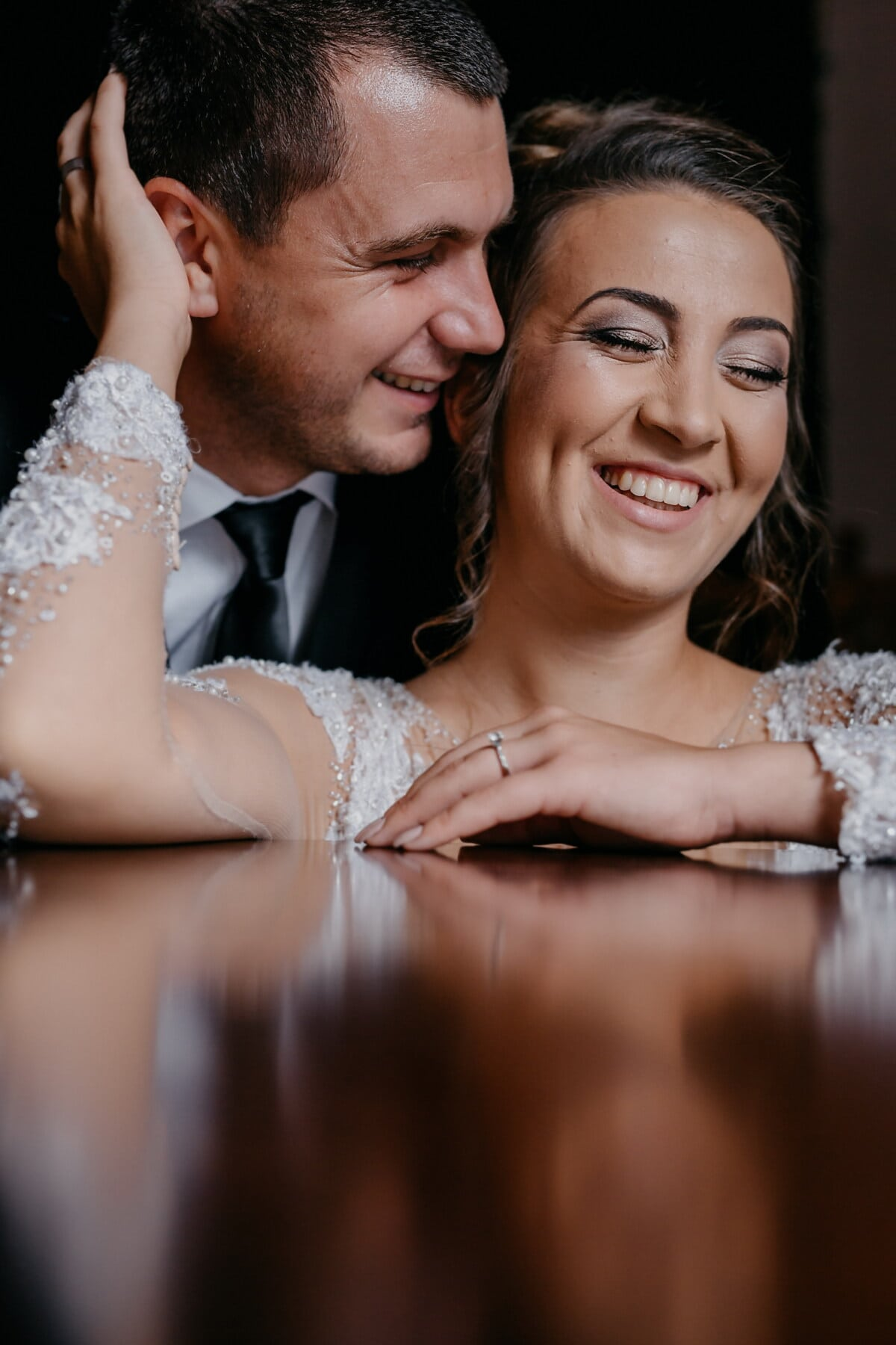 wedding, groom, woman, love, couple, bride, fashion, romance, glamour, indoors