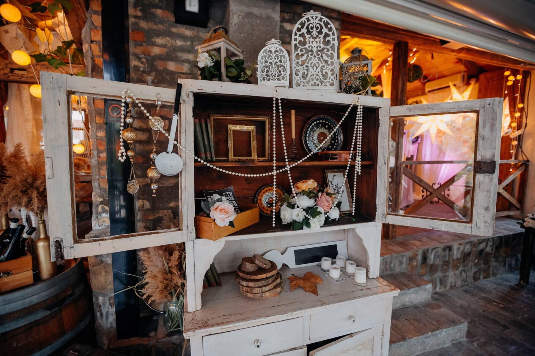 décoration d'intérieur, plateau, armoire, meubles, Accueil, maison, à l'intérieur, chambre, bois, à l'intérieur