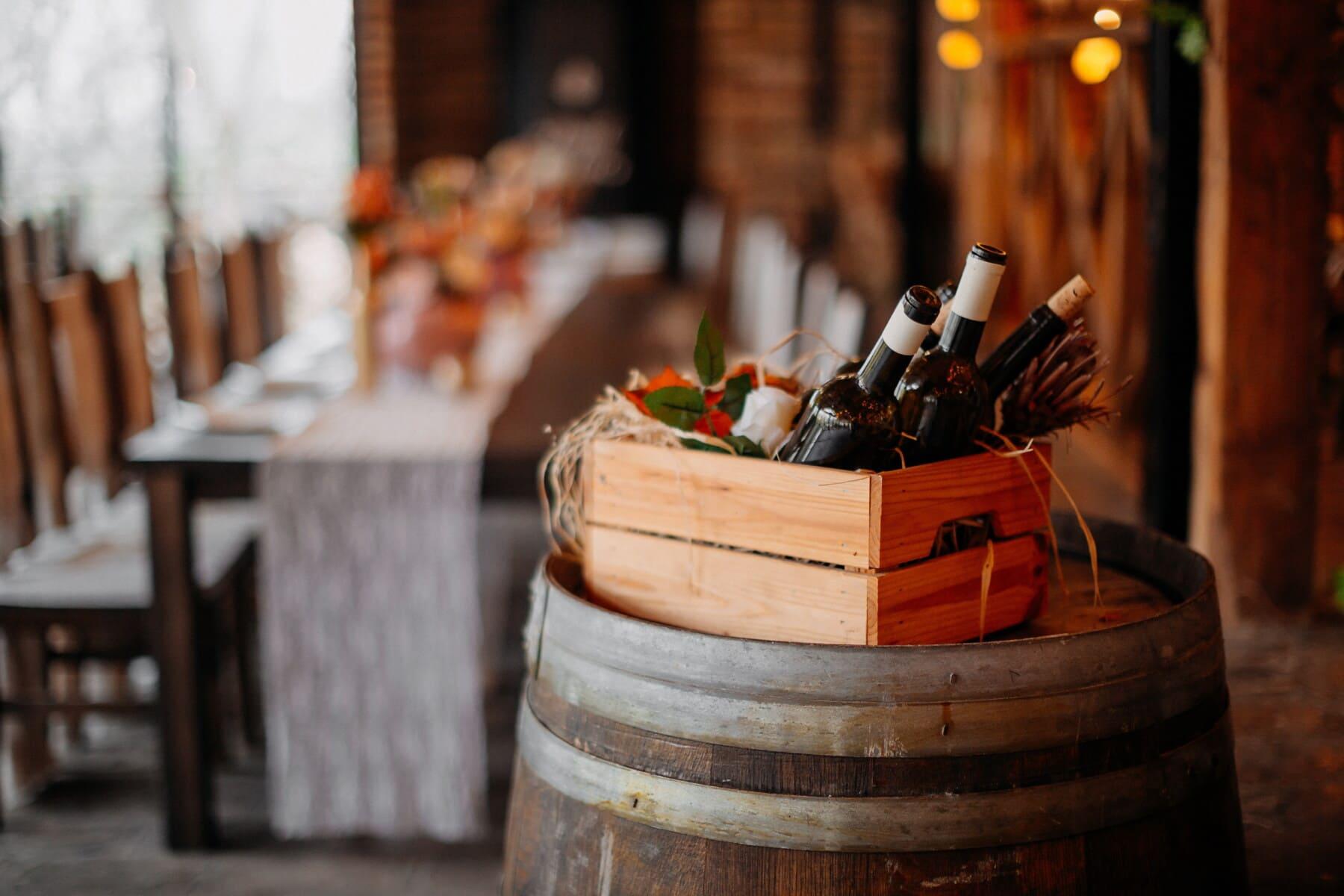wine, bottles, red wine, winery, box, barrel, wooden, vine, wood, drink