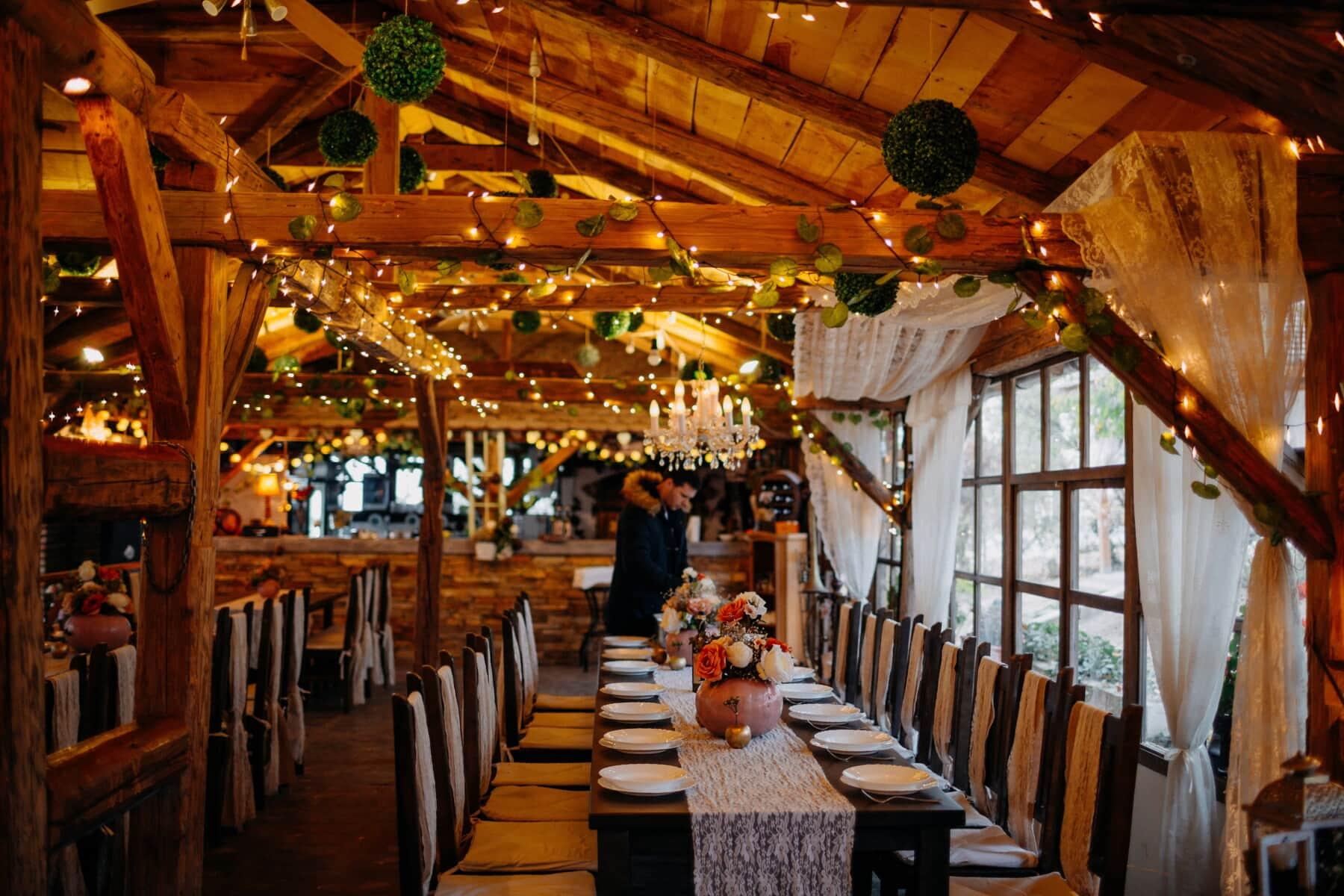 cafeteria, hotel, table, chairs, interior design, interior, architecture, restaurant, indoors, wood