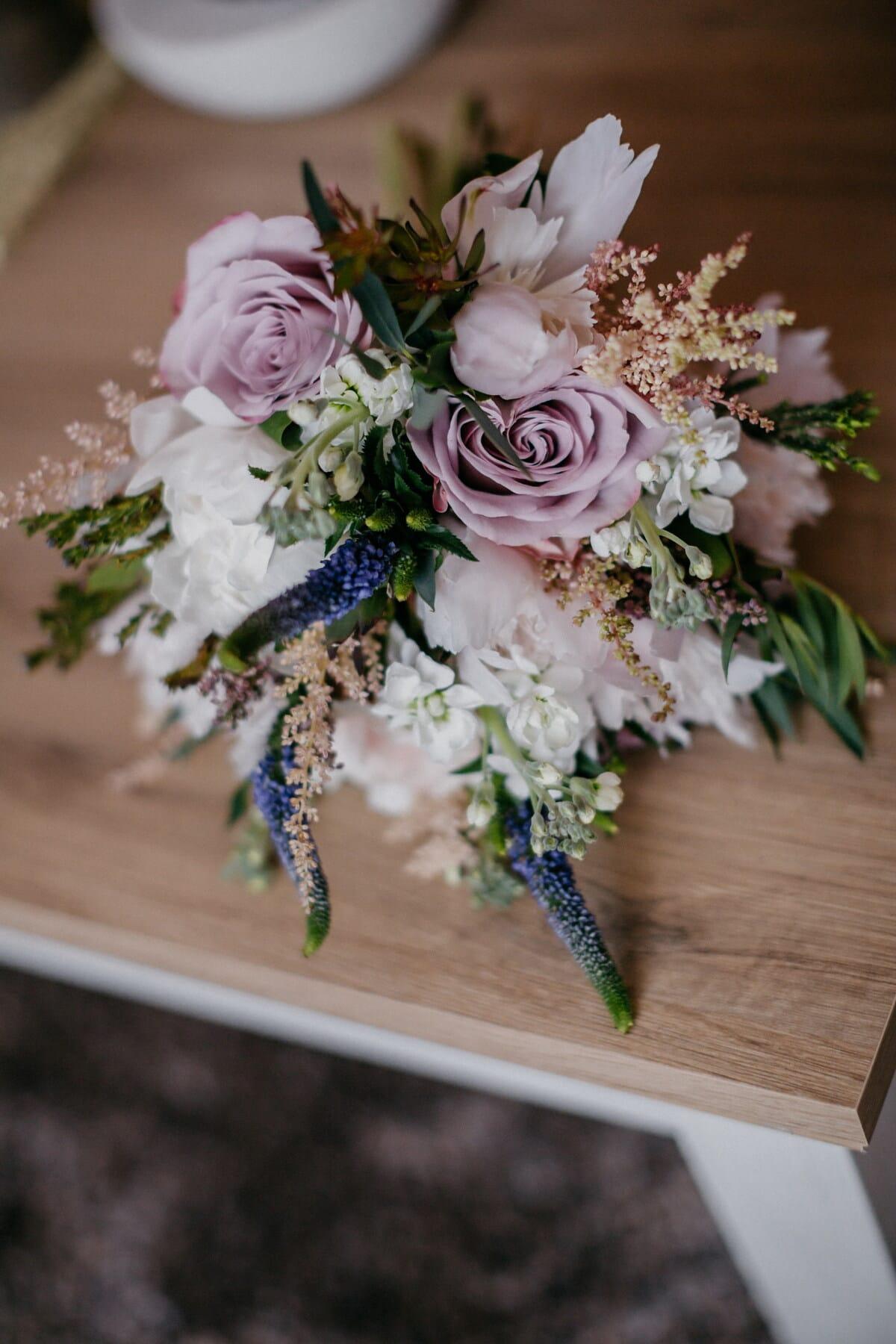 pastel, bouquet, arrangement, fleurs, fleur, décoration, Rose, nature morte, feuille, romance