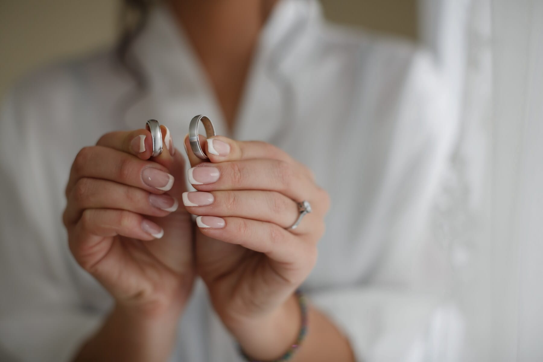 woman, wedding ring, holding, nail polish, close-up, manicure, finger, rings, skin, hand
