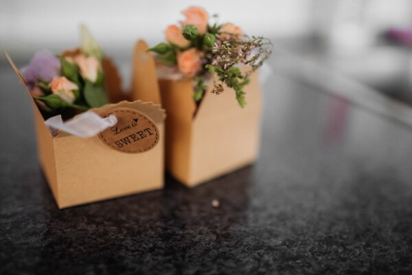 bouquet, love, romantic, gifts, boxes, pepper, still life, blur, flower, leaf