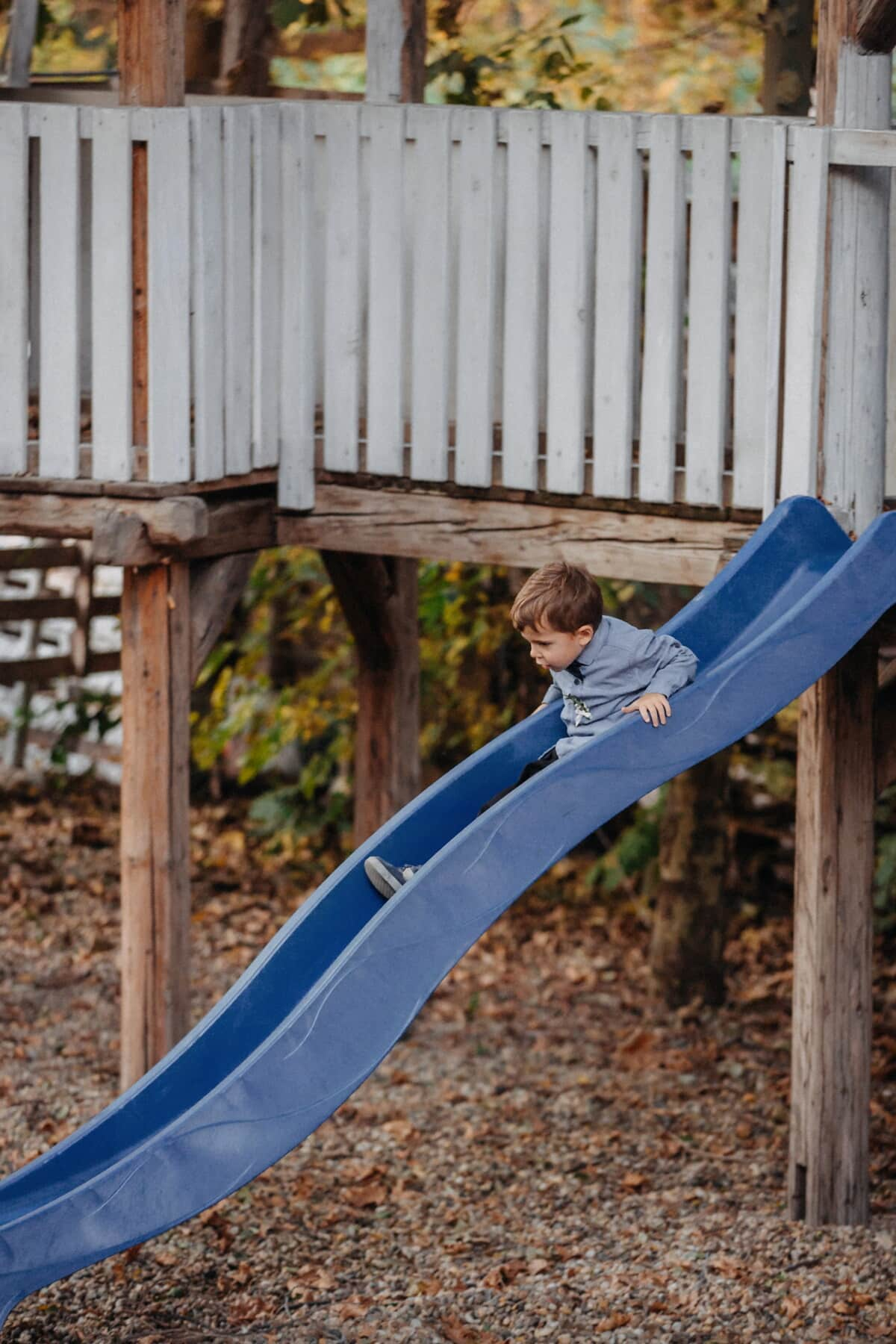 slider, young, boy, toddler, playground, wood, child, outdoors, girl, portrait
