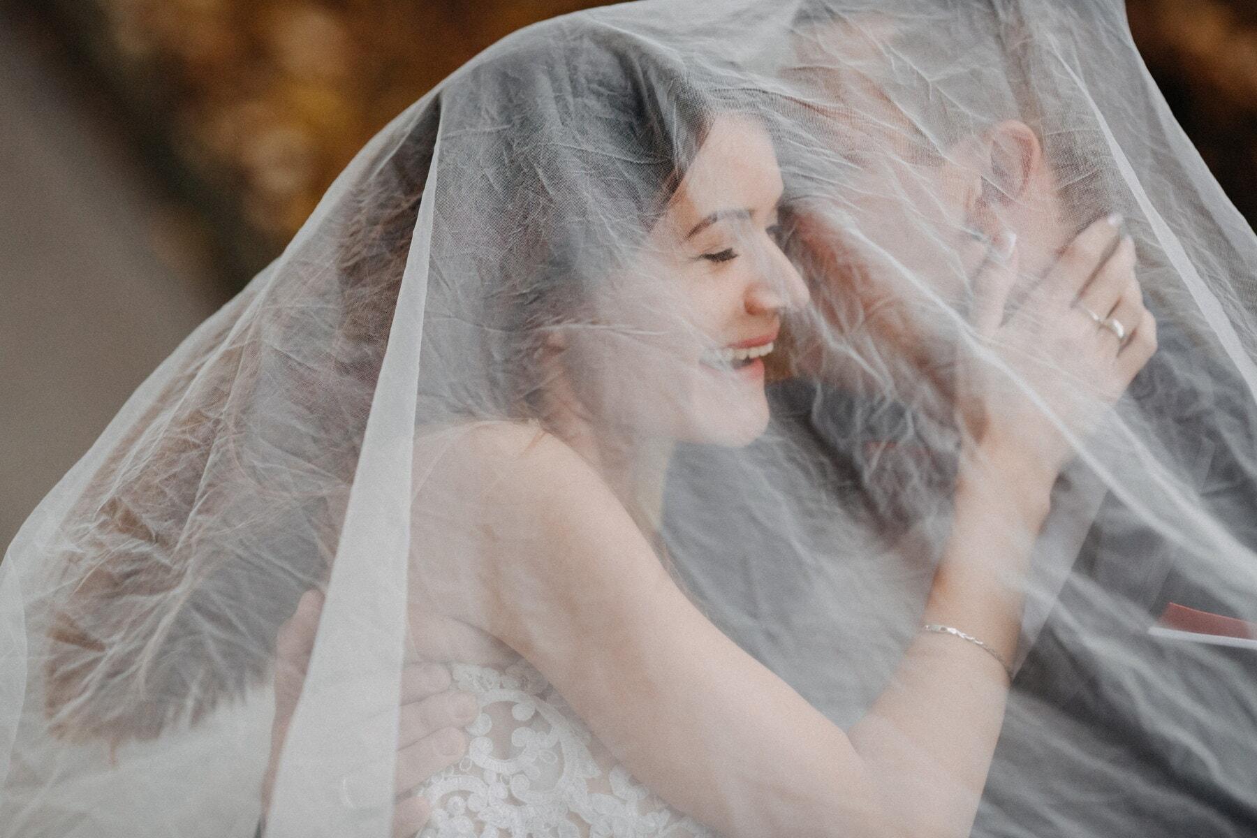 mariage, mariage, blonde, jeune marié, voile, femme, la mariée, mode, jeune fille, amour