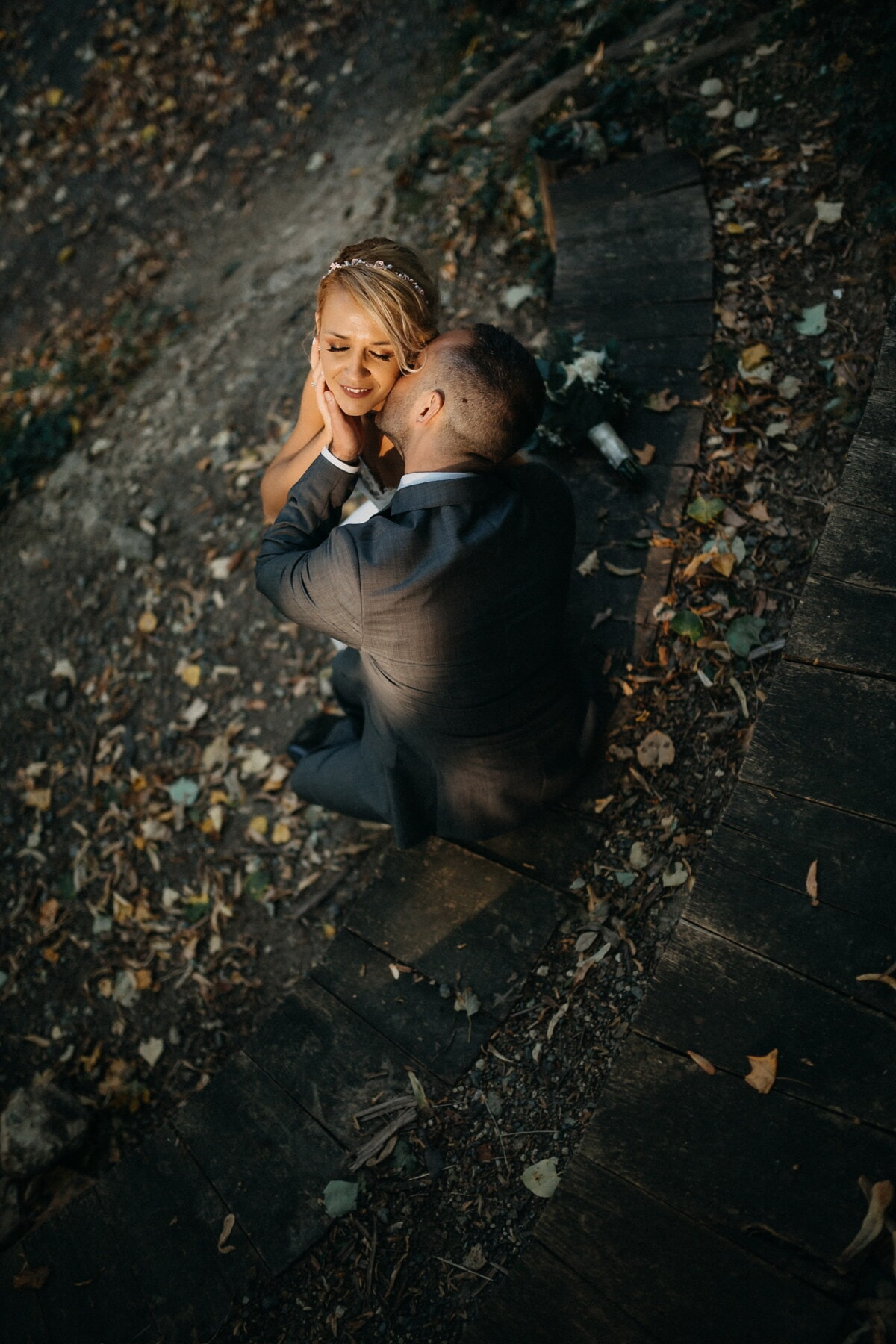 nymphe, gentilhomme, baiser, tendresse, dame, portrait, jeune fille, gens, rue, modèle