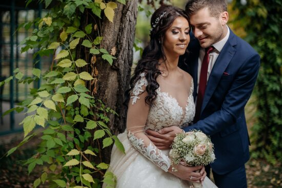 photography, wedding, just married, togetherness, tenderness, bouquet, bride, love, marriage, engagement