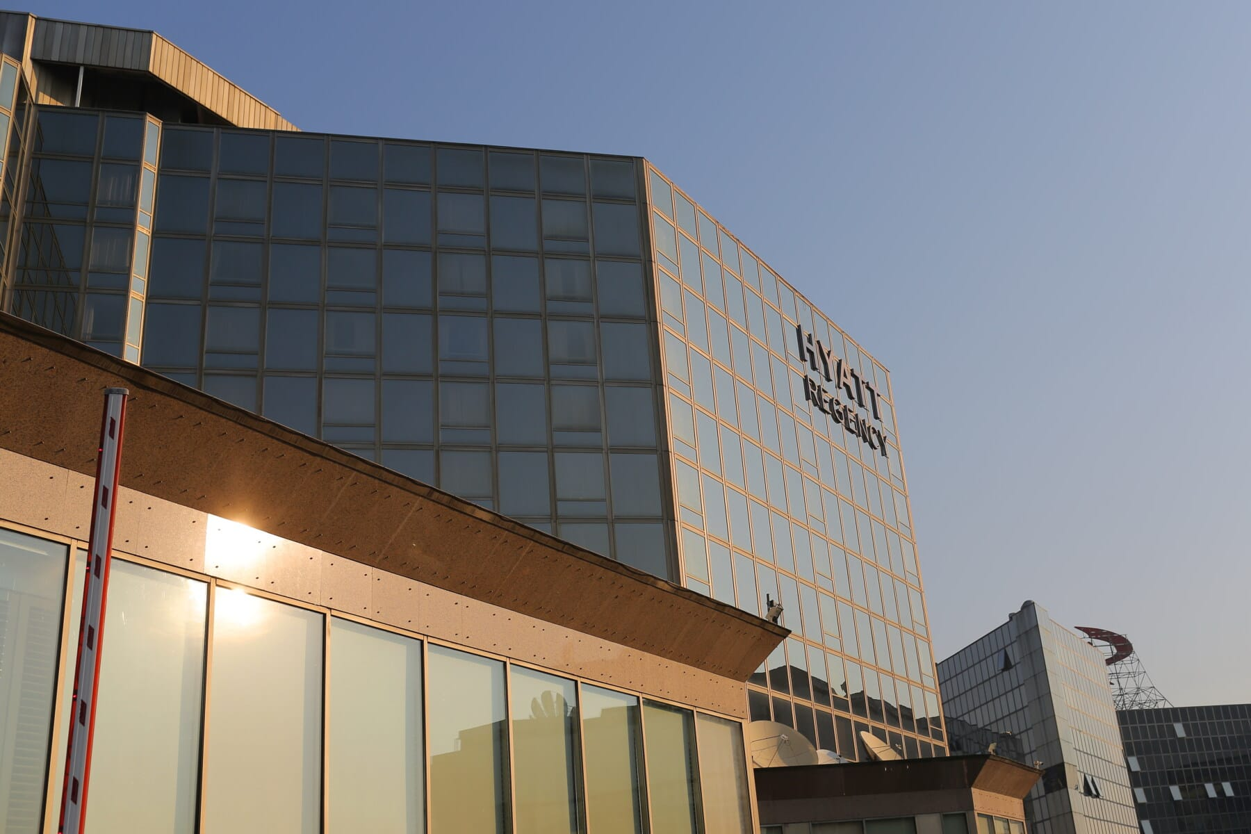 Hyatt Regency otel, süslü, bina, cam, modern, şehir, mimari, ofis, gökdelen, şehir merkezinde