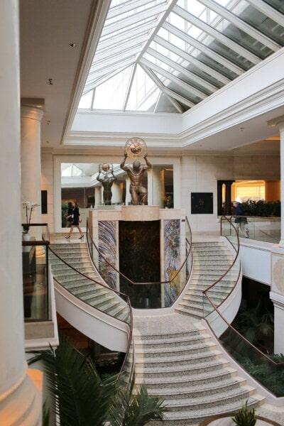 ホテル, 廊下, 控え室, アトリウム, 階段, モダンです, 現代的です, 高価です, ホーム, 部屋