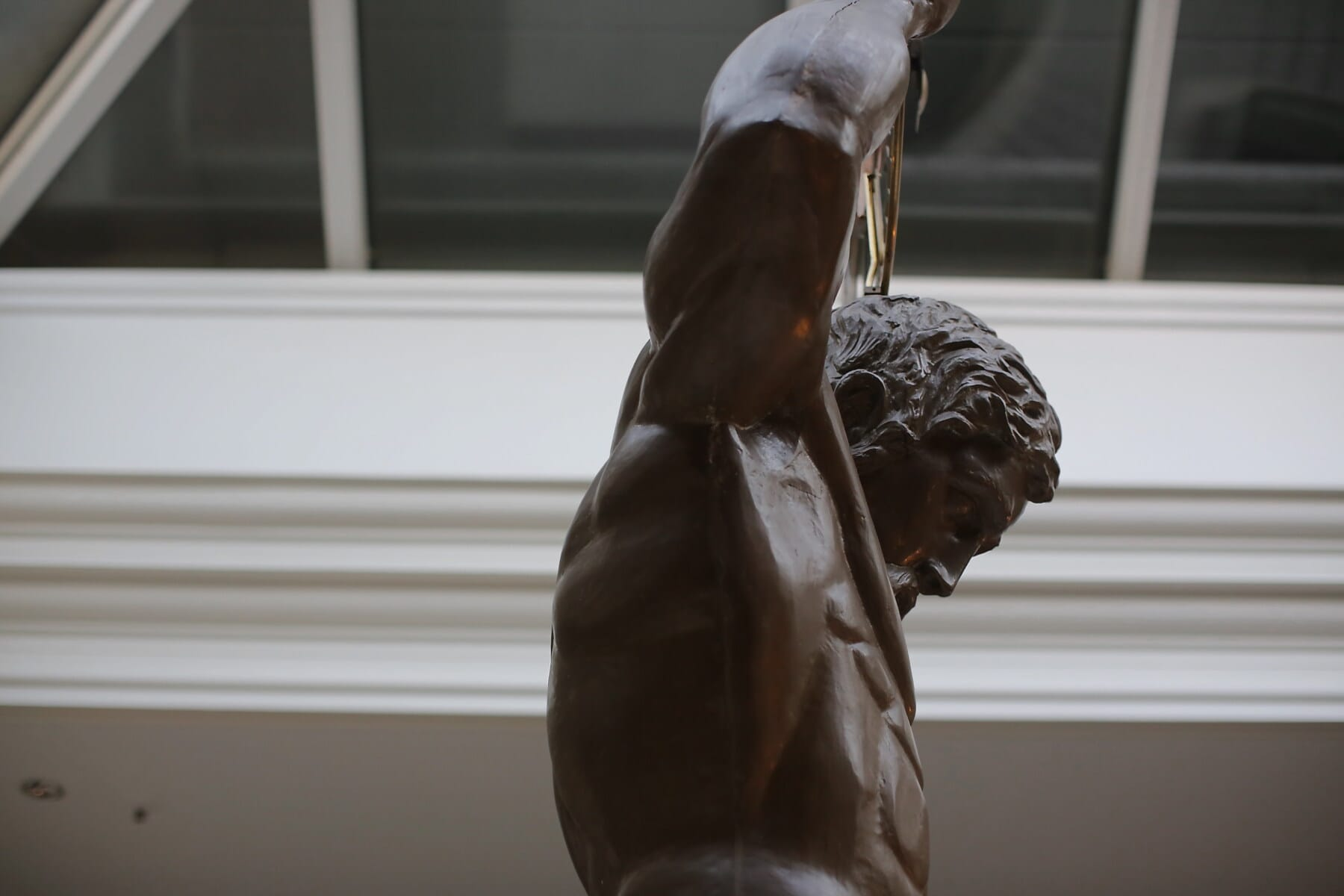 Mann, muskulös, Skulptur, Atrium, Bronze, Kunst, Seitenansicht, Statue, Porträt, drinnen