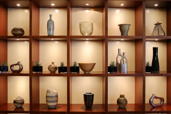 interior decoration, shelf, pitcher, vase, ceramics, interior design, similarity, room, home, furniture