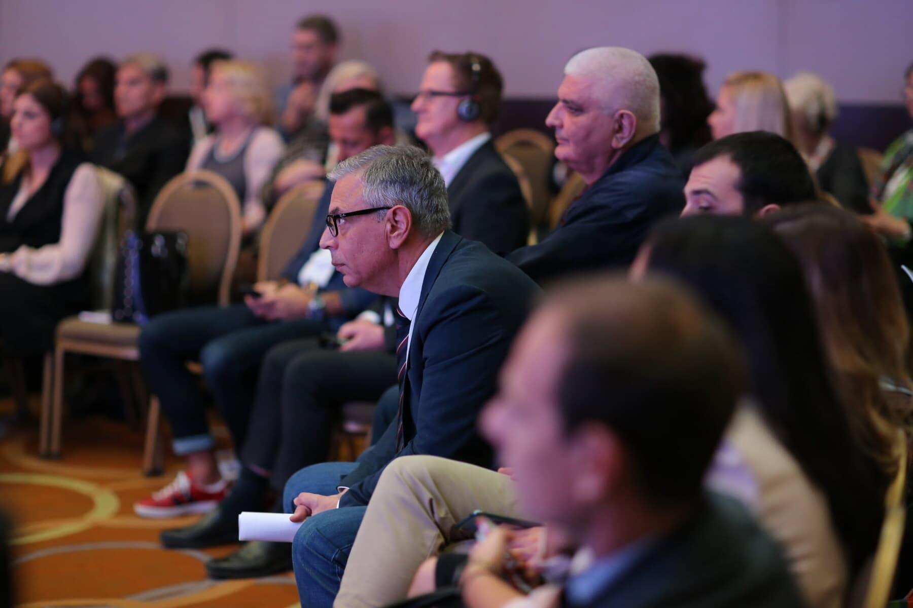 Gestionnaire, assis, Conférence, spectateur, public, Congrès, entreprise, personne, homme, réunion