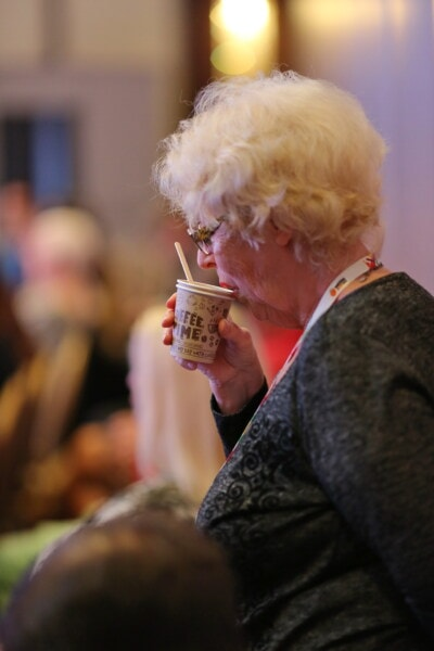 old woman, granny, drinking, coffee cup, coffee, people, woman, portrait, drink, indoors