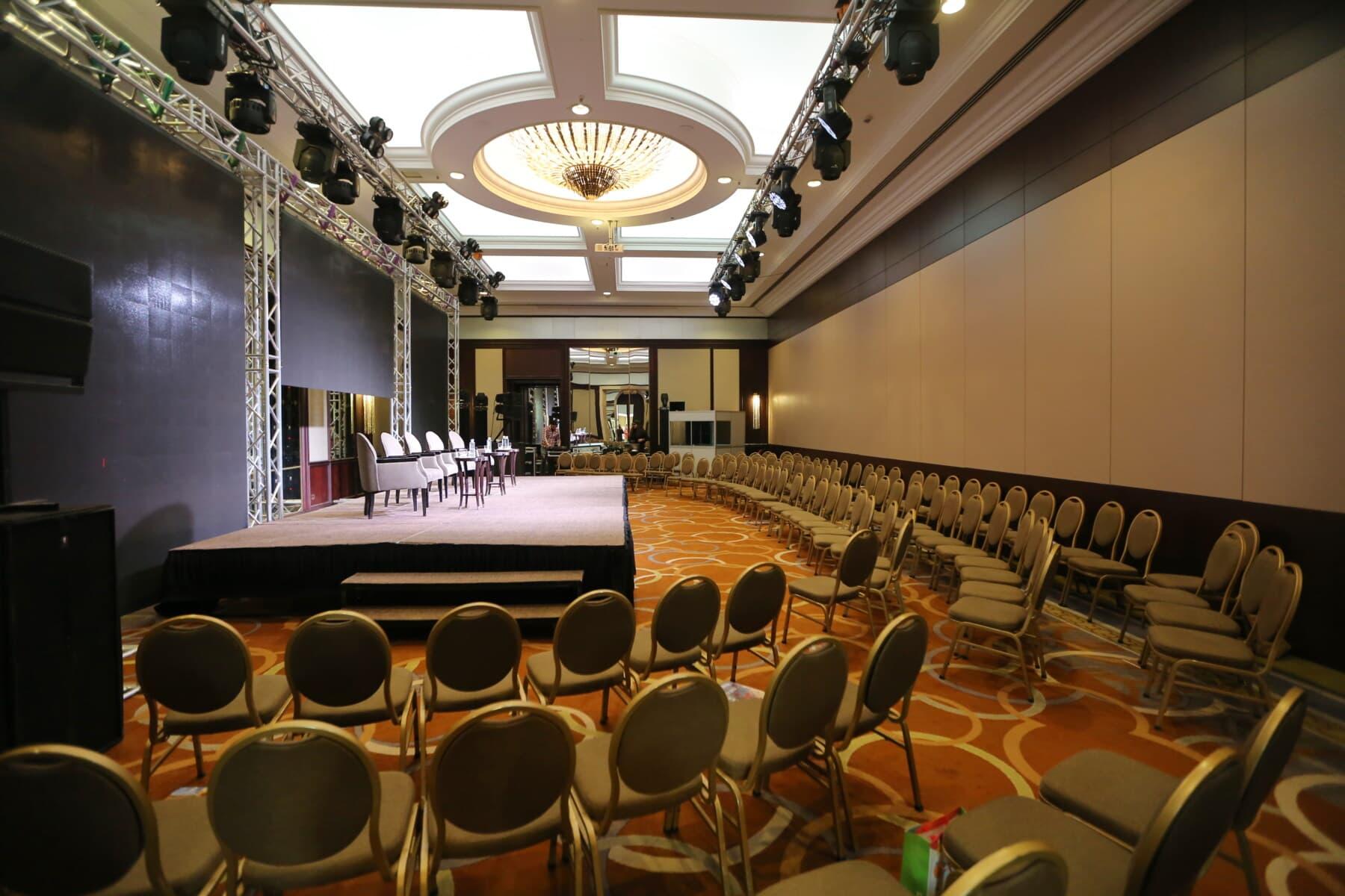 chaises, décoration d'intérieur, Conférence, hôtel, vide, Hall, chaise, à l'intérieur, à l'intérieur, chambre