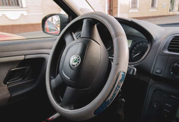 Skoda, dashboard, steering wheel, airbags, speedometer, interior design, gauge, inside, windshield, car, vehicle
