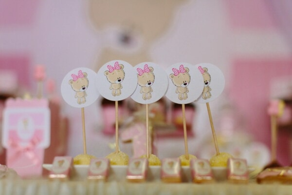 party, birthday, decoration, candy, teddy bear toy, cake, celebration, sweet, traditional, food