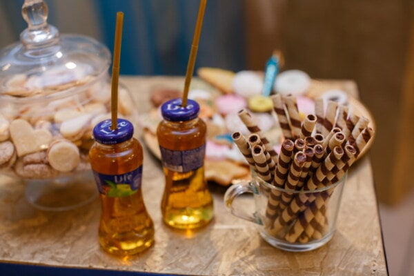 cookies, biscuit, birthday, party, fruit juice, glass, traditional, wood, candle, aromatherapy