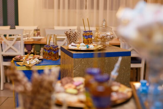 birthday, party, cookies, fruit juice, banquet, decoration, indoors, table, interior design, food