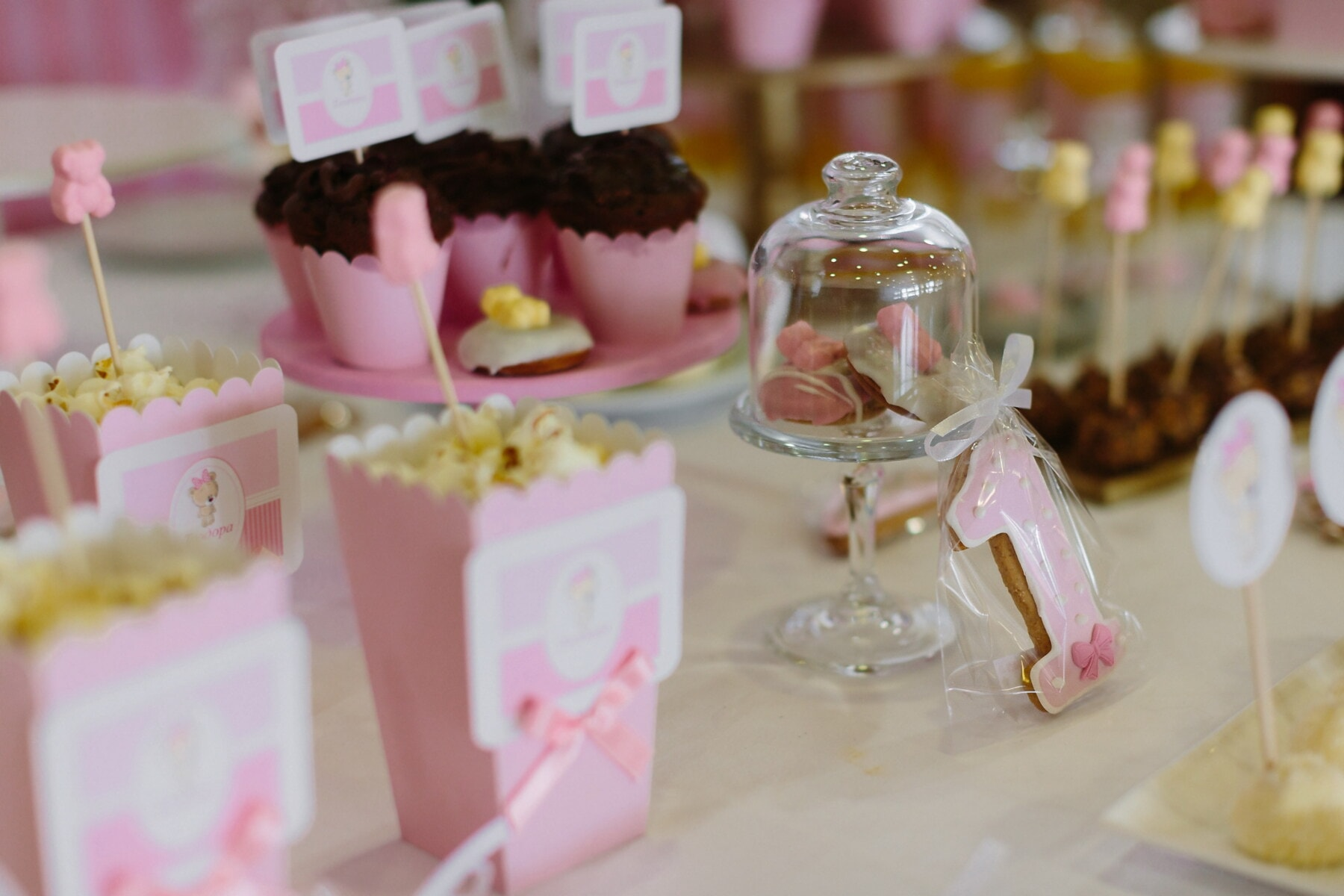 baby, party, birthday, candy, popcorn, dessert, cake, indoors, chocolate, reception