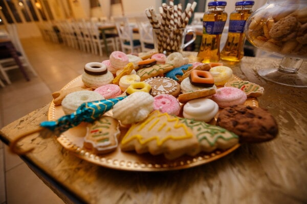 gingerbread, cookies, party, meal, food, wood, traditional, still life, table, indoors
