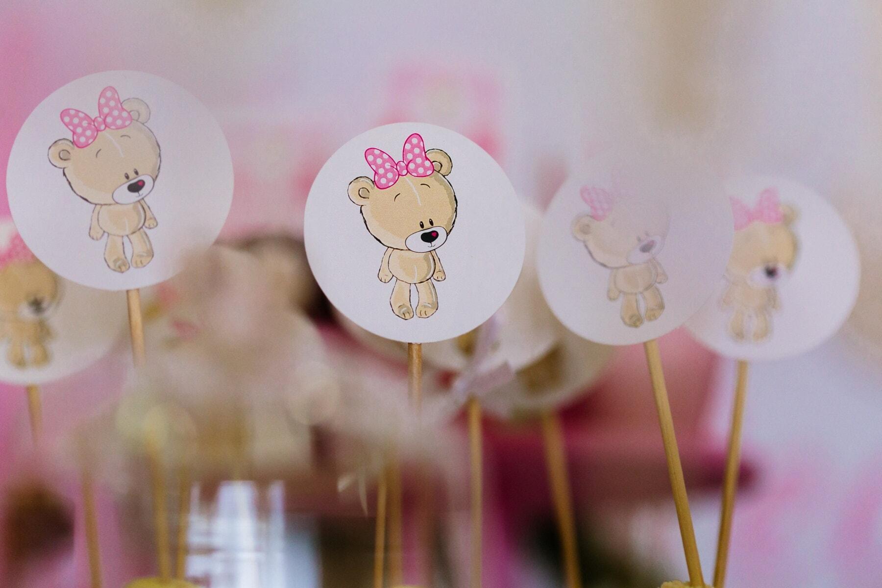 Valentinstag, romantische, Dekoration, Teddybär Spielzeug, Stöcke, Liebe, Feier, Design, Romantik, Farbe