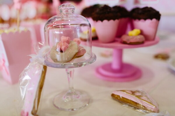 candy, underneath, glass, bell, cake, reception, party, celebration, chocolate, food
