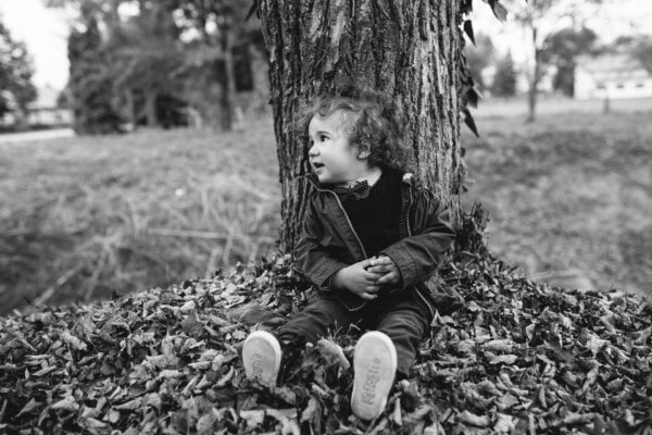 toddler, monochrome, black and white, autumn season, people, hay, child, boy, portrait, nature