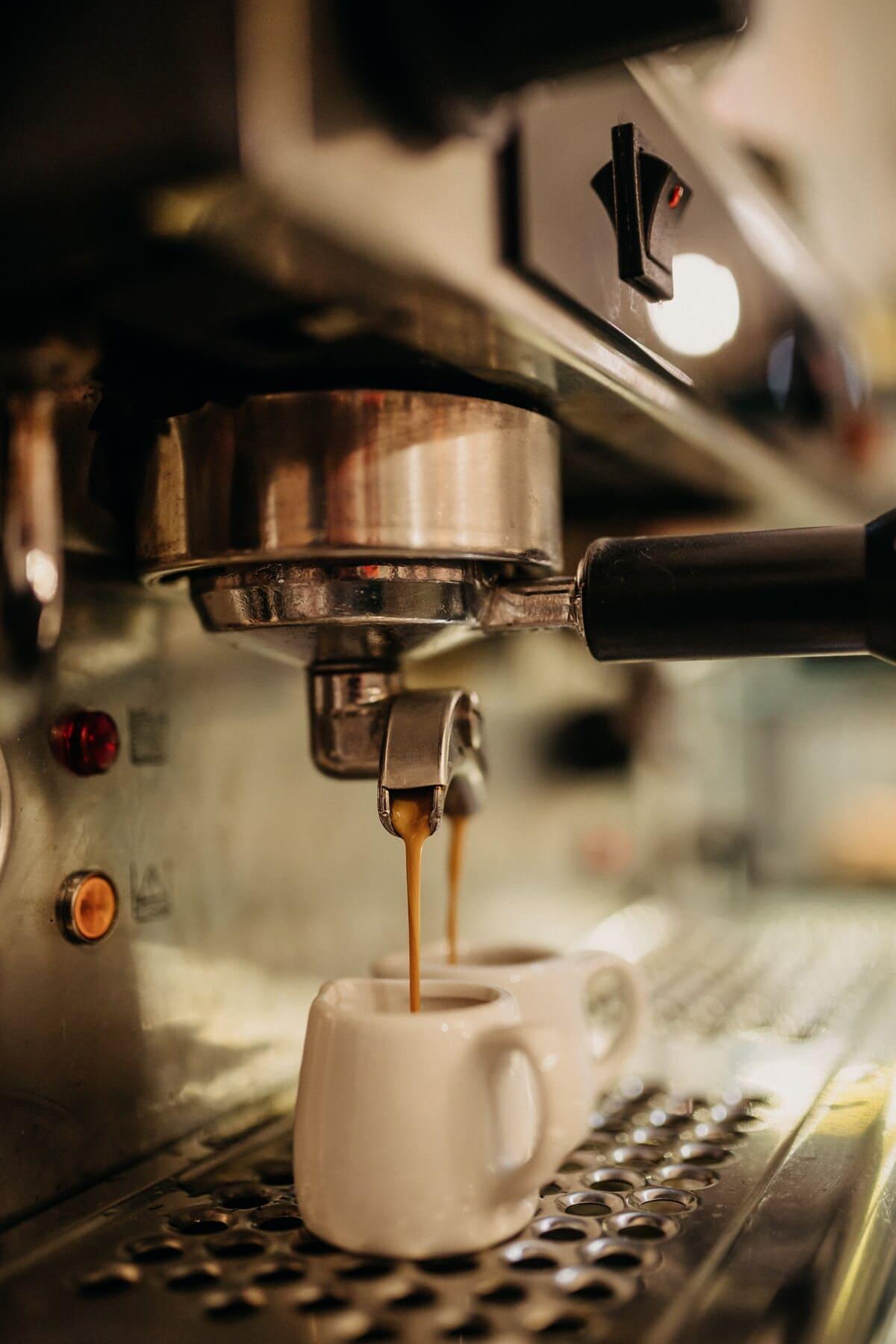coffee mug, caffeine, restaurant, kitchen, beverage, espresso, coffee, indoors, blur, still life