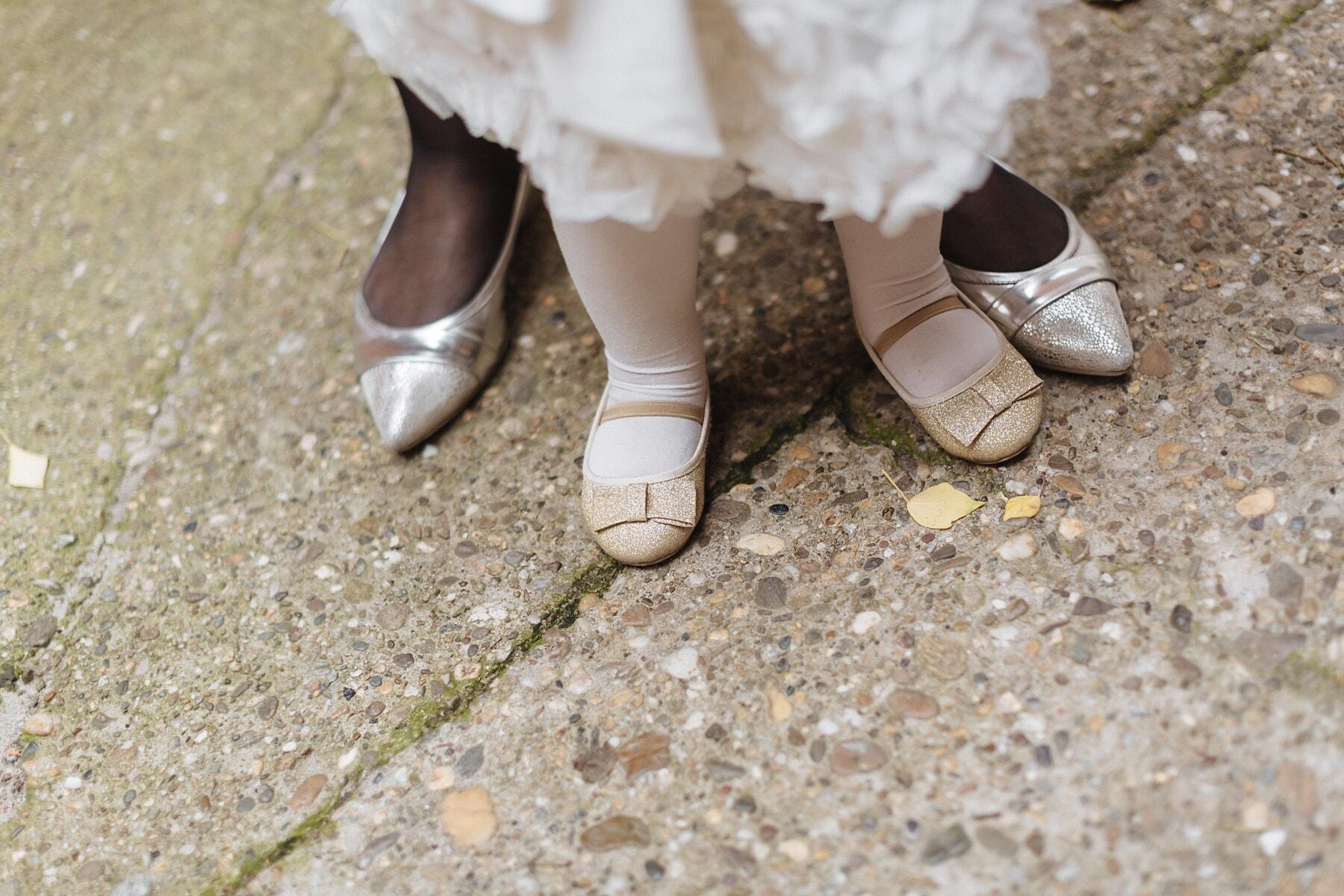 weiß, Schuhe, Sandale, Tochter, Mutter, Mädchen, Schuhe, Fuß, Schuh, Straße