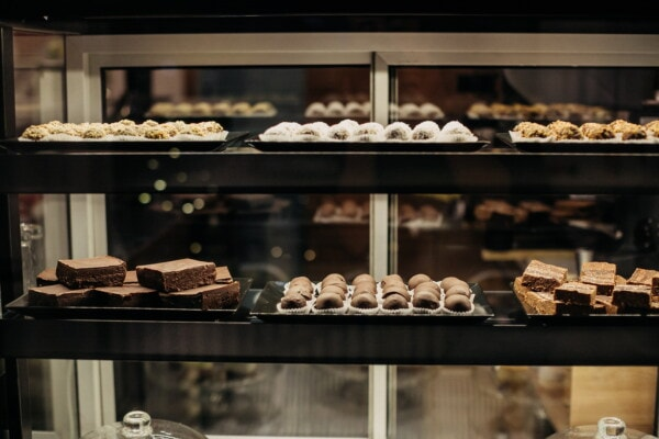 cake shop, cookies, workshop, shelf, assortment, stock, sweet, chocolate, food, shop