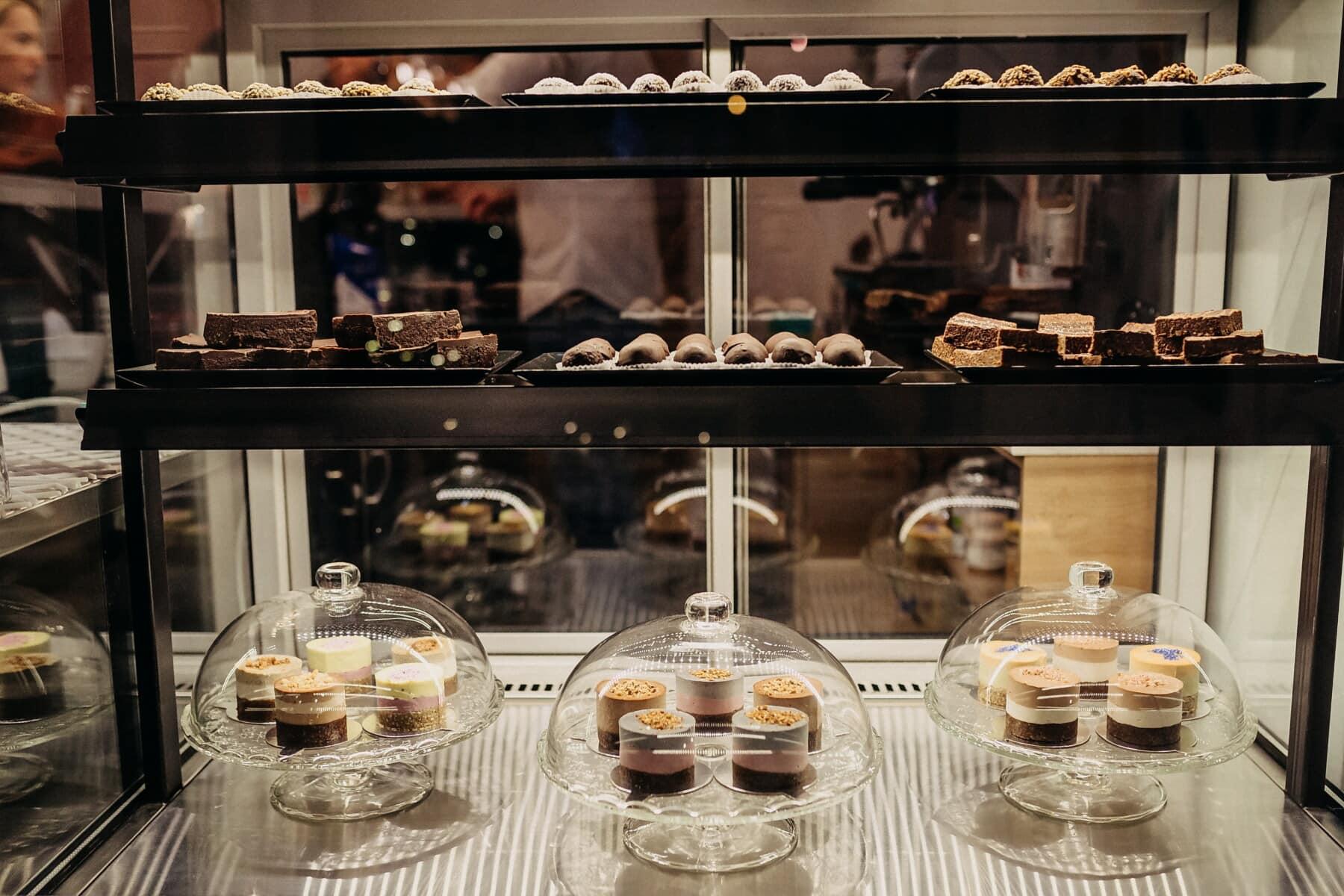 Kuchenladen, Sortiment, Shop, Produktion, Keks, Einkaufen, darunter, Glas, Kuchen, Restaurant