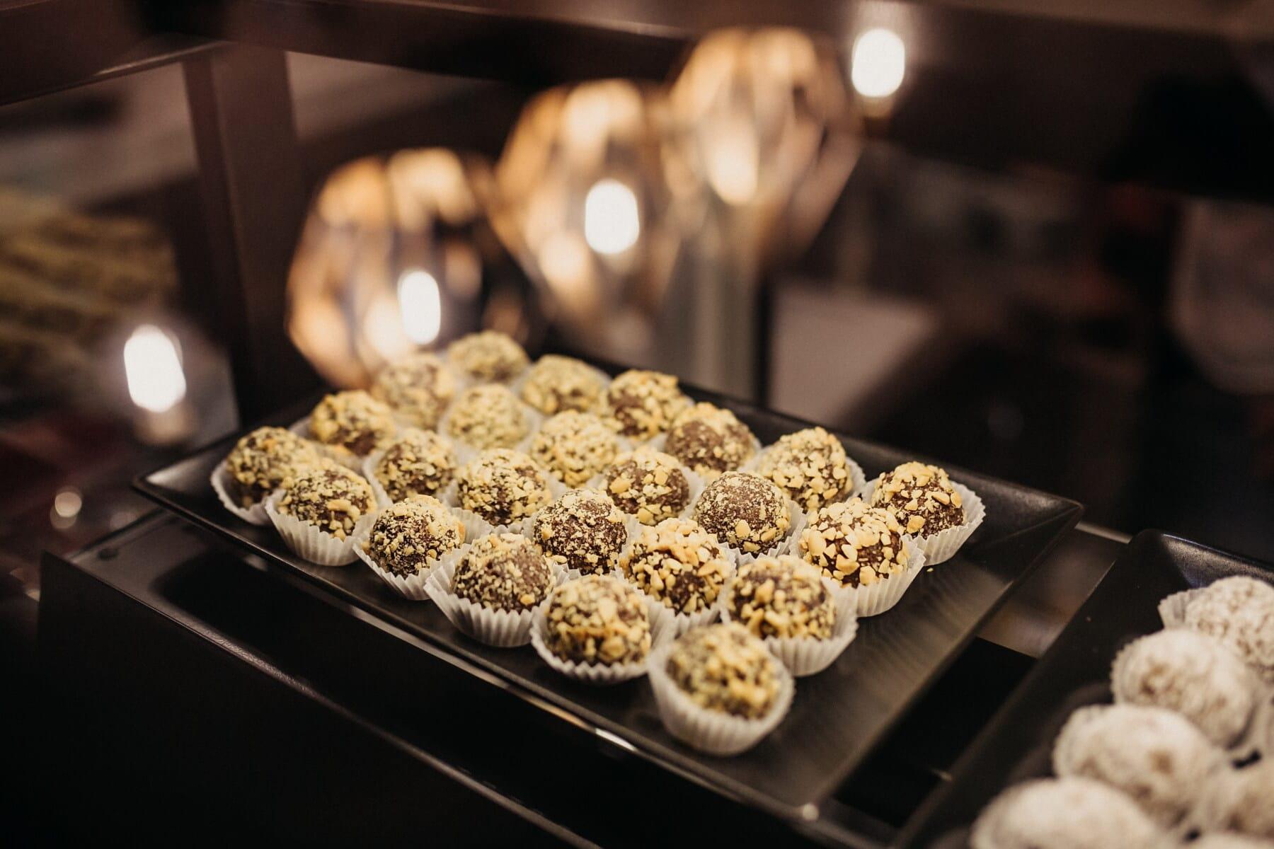 クッキー, 棚, ケーキ屋, チョコレート, クルミ, ワーク ショップ, 食品, 甘い, 砂糖, キャンディ