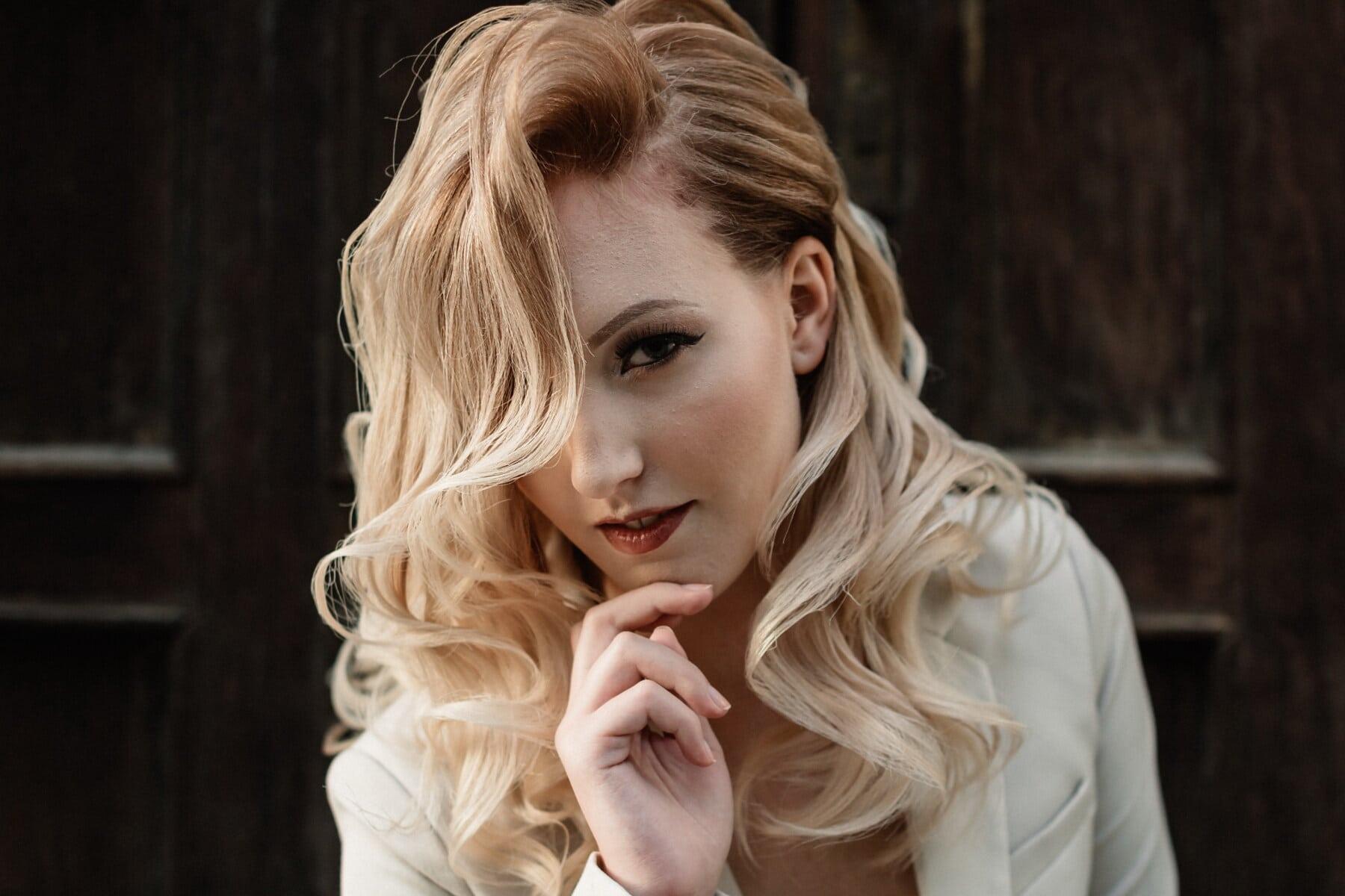 女士, 肖像, 漂亮女孩, 青少年, 金色头发, 脸, 魅力, 漂亮, 优雅, 时尚