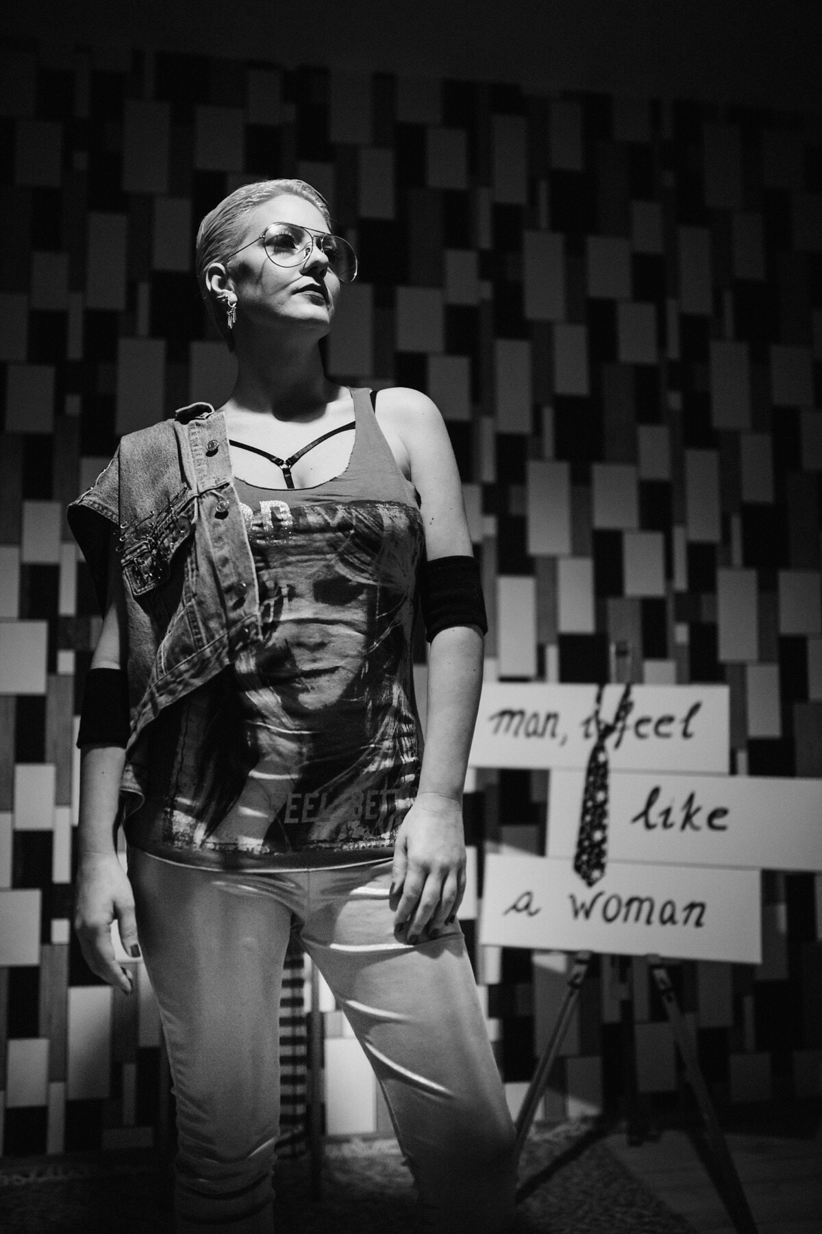 confident, woman, standing, photo studio, posing, design, designer, businesswoman, fashion, portrait