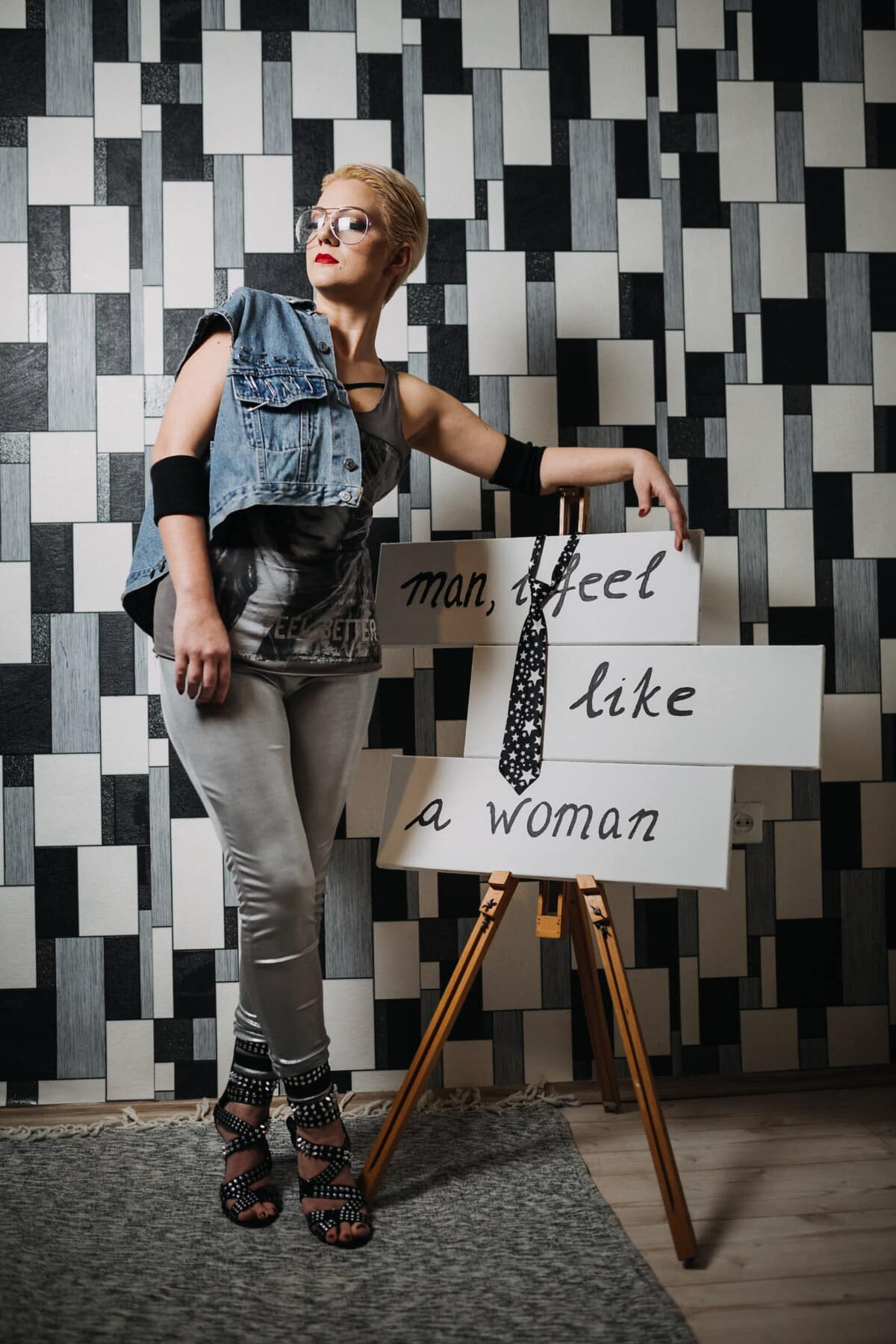 casuais, roupa, moda, projeto, Designer de, studio, feminino, Mensagem, atraente, mulher