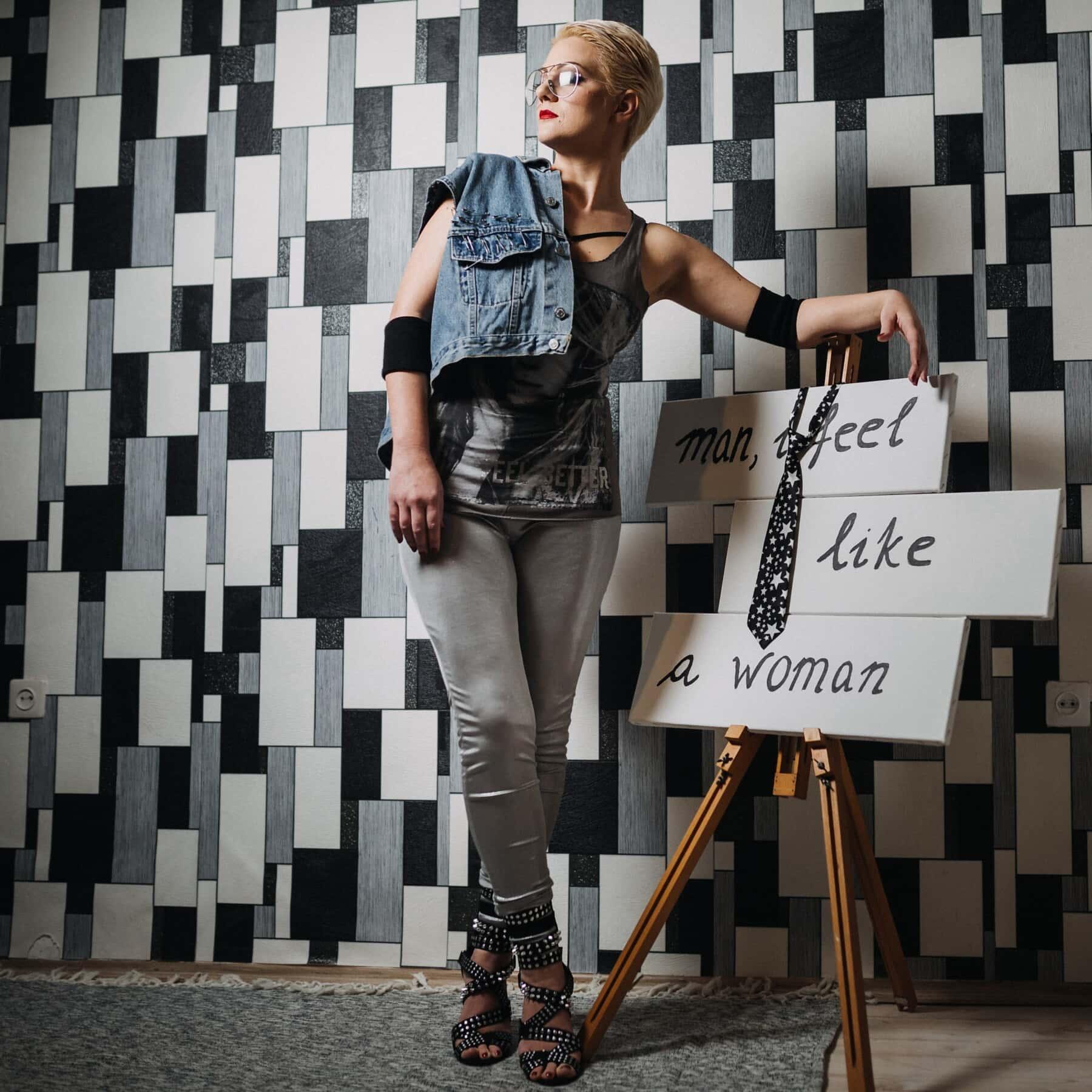 Outfit, mode, conception, studio, concepteur, jeune femme, Jolie fille, fantaisie, décontractée, femme