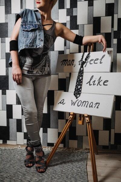 conception, concepteur, jeune femme, fantaisie, message, féminine, mode, femme, joli, charme