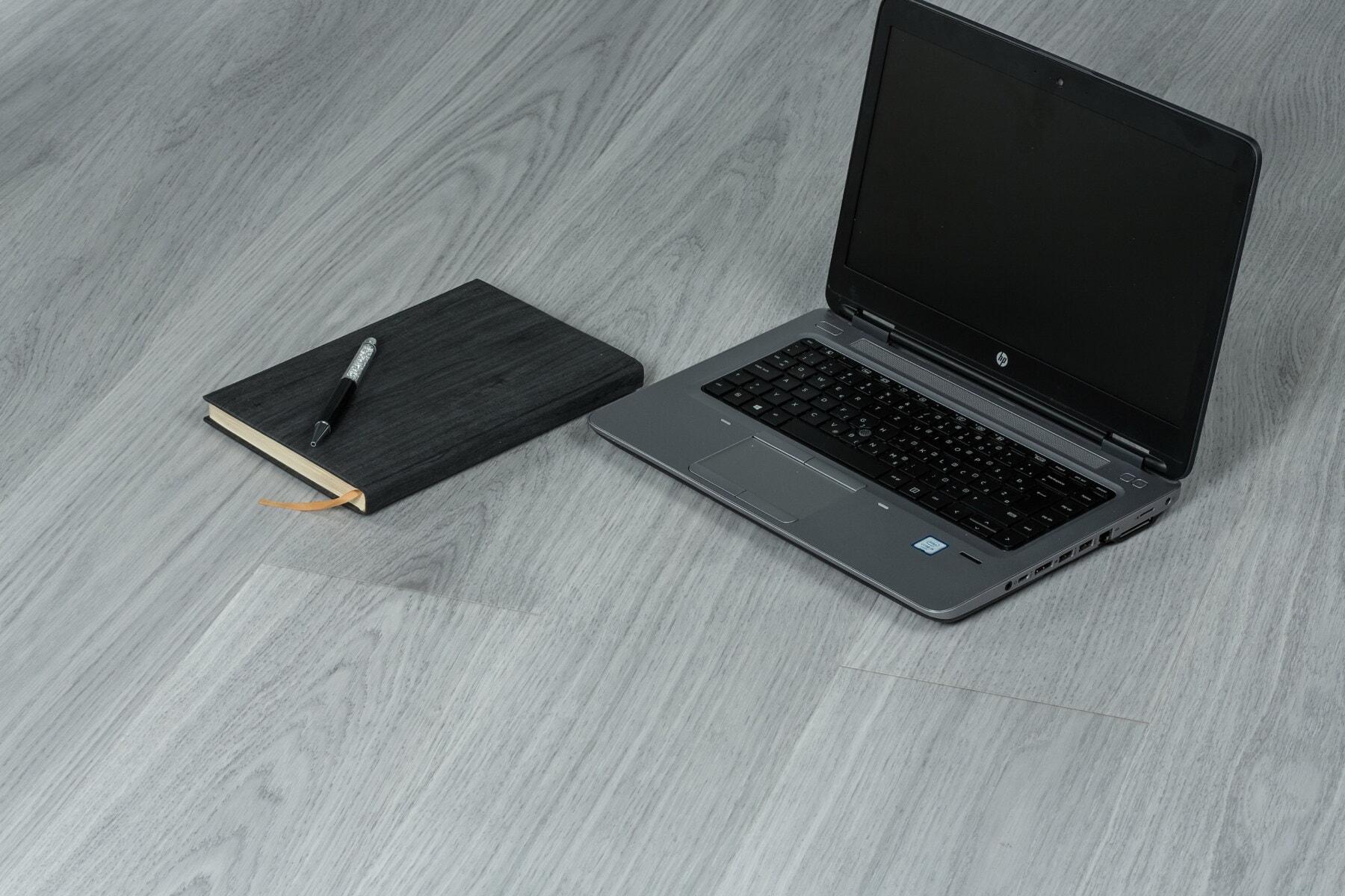 siva, prijenosno računalo, bilježnica, dnevno, crno, ured, elektronika, računalo, digitalno računalo, prijenosno računalo